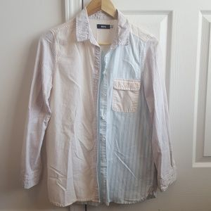 Urban Outfitters Pastel Multi Stripe Button-Down